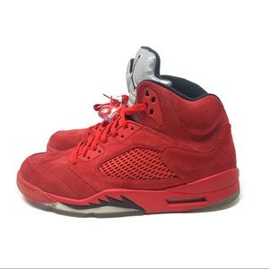 Nike | Air Jordan 5 Red Suede